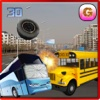 School Bus Crash Demolition : Derby Racing Bus Chase Simulator racing road
