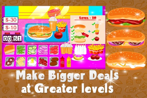 Fast Sandwiches Maker – Crazy cooking & chef mania game for kids screenshot 3