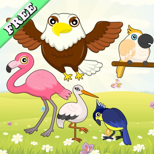 Flying Birds Match Games for Toddlers and Kids : discover the bird species ! FREE app iOS App