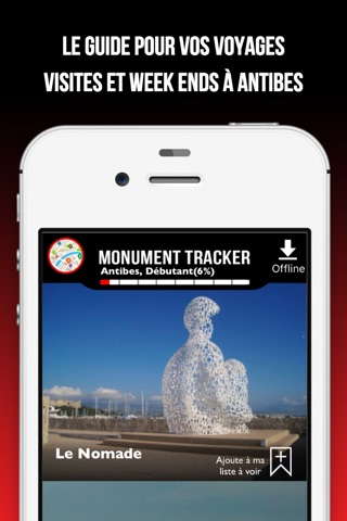 Antibes Monument Tracker screenshot 2