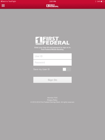 First Federal Savings Bank of Twin Falls for iPad screenshot 1