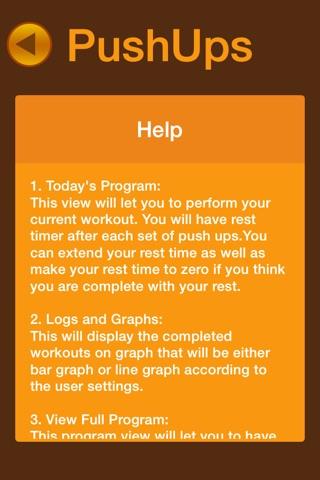 Pushups Fitness Workout screenshot 4