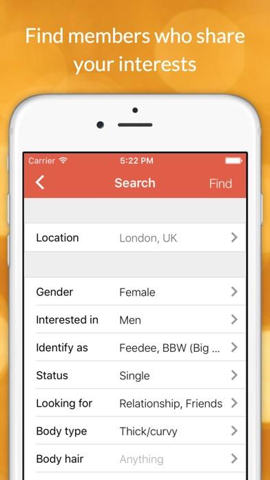 download FEABIE - Feeders, Feedees, BBW, BHM Social Network & Dating apps 4
