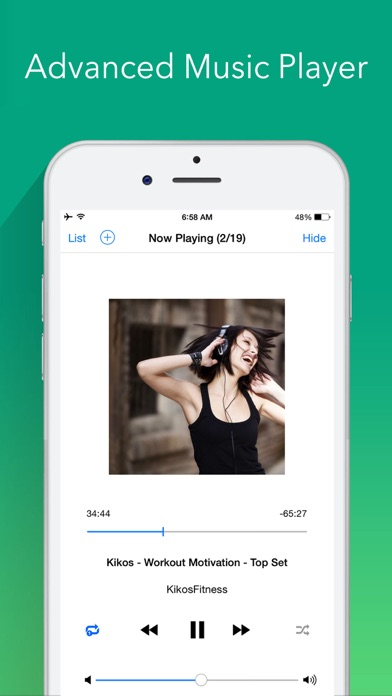 Musisong free music pro song player playlist manager for iphone screenshot 2 ccuart Image collections