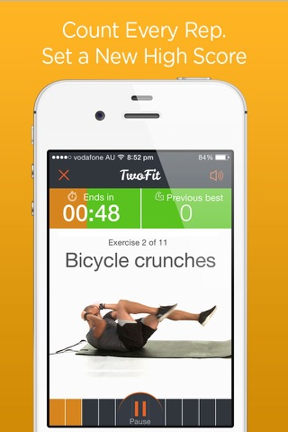 Time Trial Workout - short sharp home workouts screenshot 1