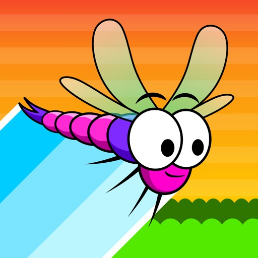 Dragonflies: Innovative, addictive and insanely difficult path drawing game in cute retro style Icon