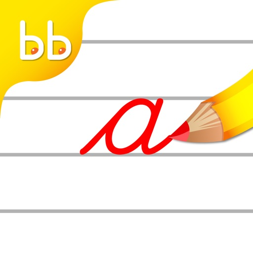 Cursive Writing Small letters : Kids learn to write lowercase alphabets and shapes iOS App