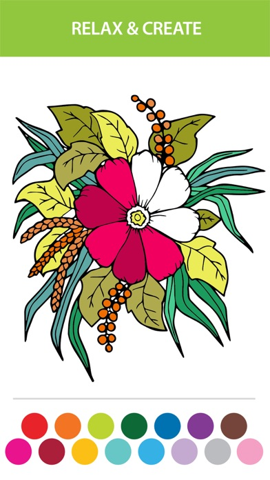 Flower Coloring Book For Adults: Free Adult Coloring Pages ...