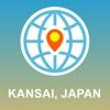 Kansai, Japan Map - Offline Map, POI, GPS, Directions japan physical map