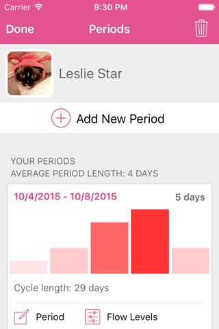 Lady Biz - Period Tracker and Fertility Calendar screenshot 4