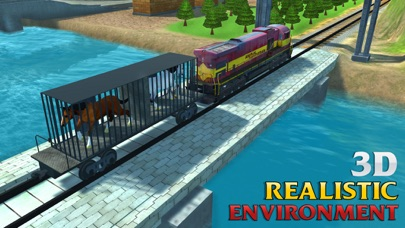 Screenshots of Horse Transport Train Simulator 3D – A locomotive Transporter Simulation for iPhone