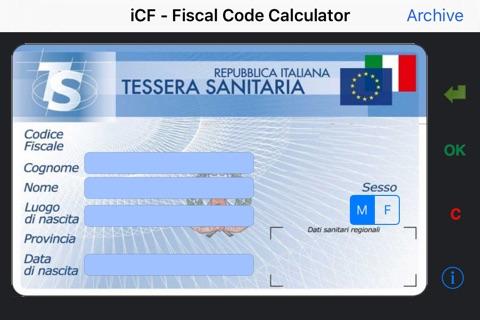 iCF - Codice Fiscale screenshot 1