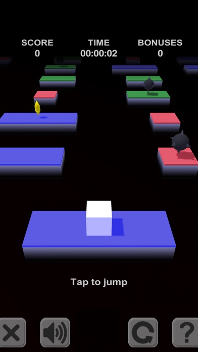 Кубик - прыгун. 3D платформы / Cube Jump. 3D platforms Screenshot
