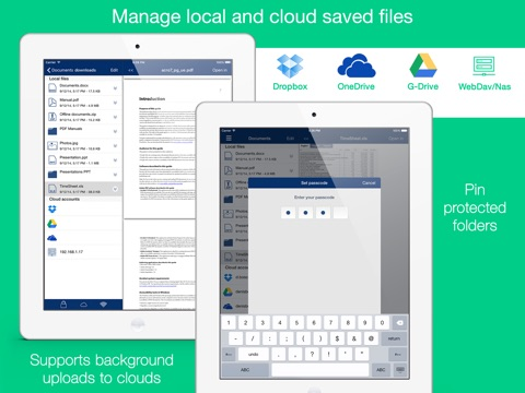 Total: browser with file manager and cloud storage support Screenshots
