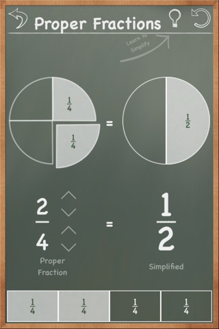 MathBoard Fractions screenshot 2