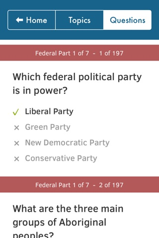 Canadian Citizenship Test Questions - Federal & Provincial Exams - Alberta, British Columbia, Manitoba, Ontario, Quebec screenshot 4