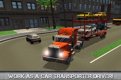 Car Transporter Driving Simulator 3D screenshot 1