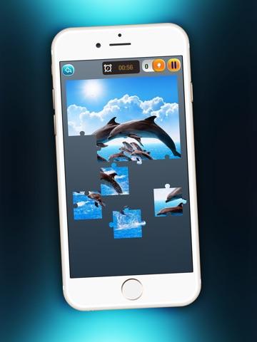 Скачать игру Дельфин Головоломка Забава - Магия Игра Для Детей с Красивый Море Животное Картинки