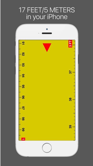 Screenshot #2 for Ruler - tape measure length 17ft
