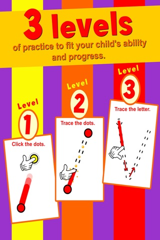 Learn ABC and alphabet thru trace game, flash cards and song. screenshot 2