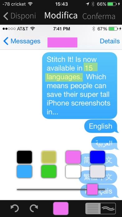 Screenshot of Stitch It! – Salva e condividi messaggi!4
