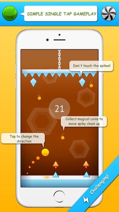 Spiky Fall - Endless bouncing game Screenshot