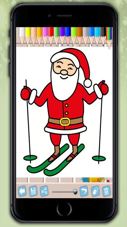 santa claus coloring pages xmas drawings to colour on christmas for kids 2 8 - Santa Claus Coloring Pictures 2
