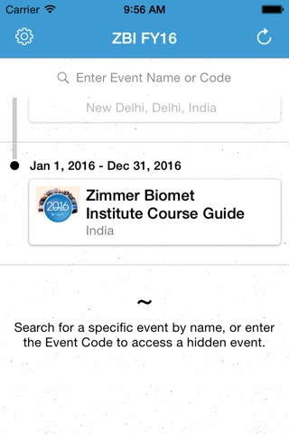 ZBI 2016 Events screenshot 2