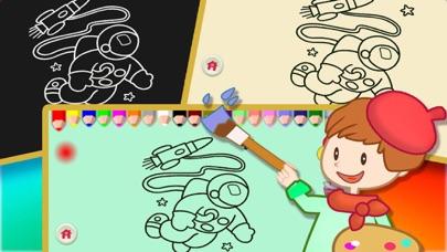 Screenshot of Libri da colorare per i bambini - Paint & Doodle per rendere il Spaceship e Robot colorato4