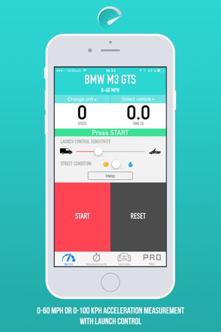 SprintBox - 0-60 mph and 0-100 km/h acceleration measurement screenshot 1