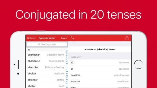 Spanish Verb Conjugator Pro Screenshots