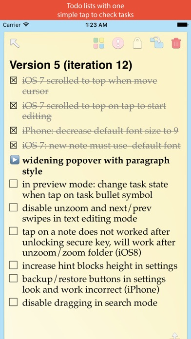 Screenshot of Notex – best notes (with photos, folders, encrypted with secure keys)4