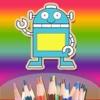 Children's Finger Painting HD - Kindergarten children Doodle and Drawing Robots children