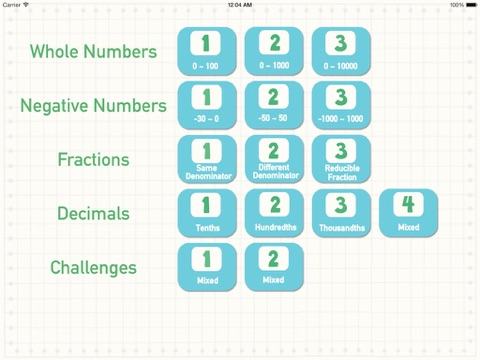 Number Line - Order Fractions,Decimals,Whole Numbers and Negative Numbers screenshot two