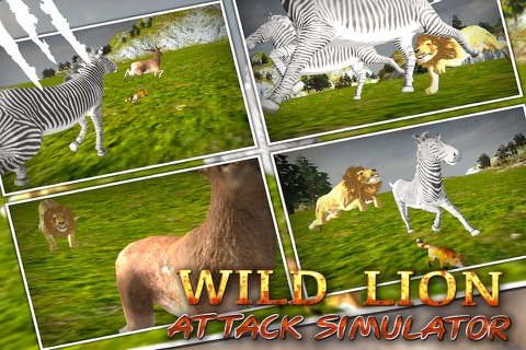Wild Lion Attack Simulator 3D screenshot 1