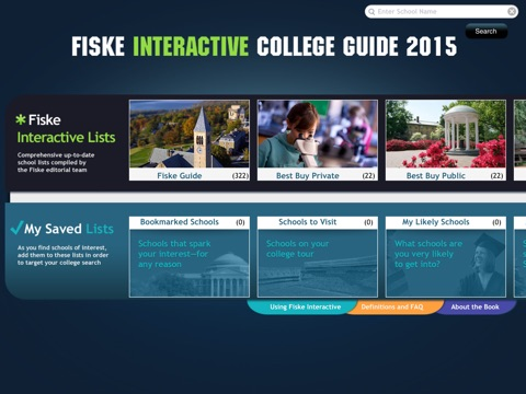 Fiske Interactive College Guide 2015 screenshot 1