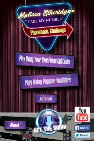 Melissa Etheridge's Phonebook Challenge screenshot 1