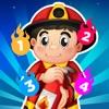 Aktiv! Zahlen zählen Lern-Spiel Für Kinder Mit Feuerwehr-mann