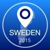 Schweden Offline Karte + Stadtführer Navigator, Sehenswürdigkeiten und Verkehr