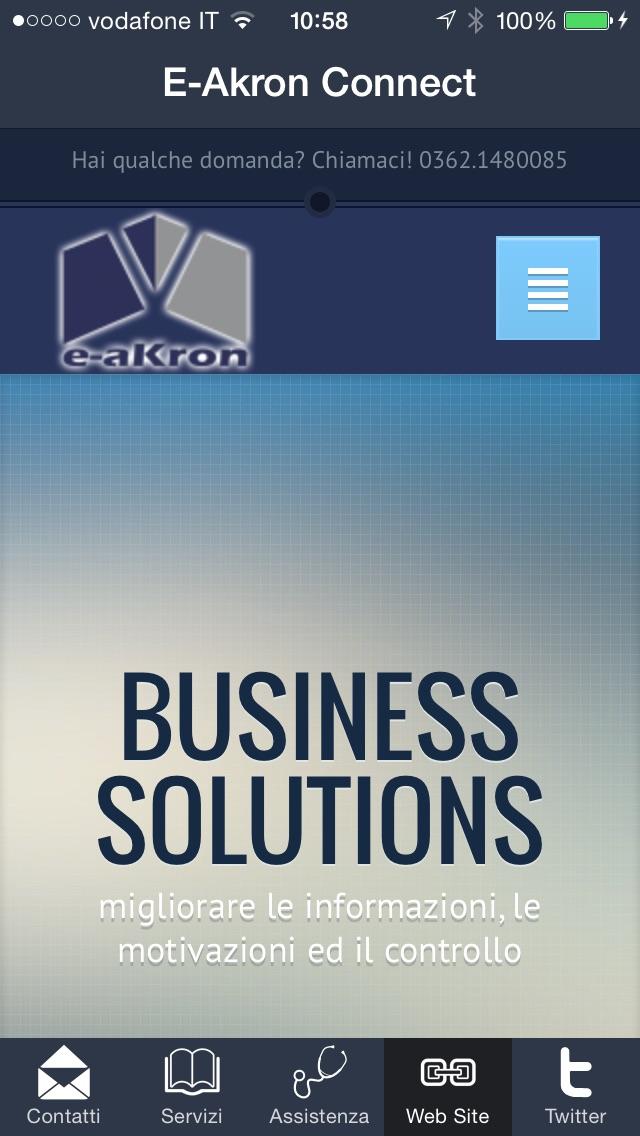 Screenshot of E-Akron Connect1