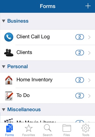 Tap Forms Organizer and Secure Database screenshot 2