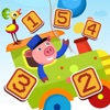 Attivo! Gioco Per i Bambini Per Imparare a Contare 1-10 Con Treno e Animali