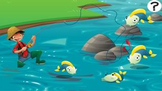 Actif! Jeu Pour Les Tout-petits Sur la Pêche: Apprendre Avec Vue Sur Mer, Eau, Poissons, Pêcheur et Canne À PêcheCapture d'écran de 2