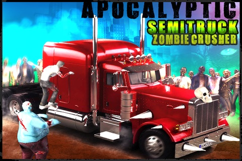 Apocalyptic SemiTruck Zombie Crusher screenshot 1