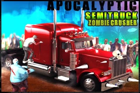 Apocalyptic SemiTruck Zombie Crusher screenshot 1