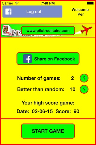 Pilot Solitaire screenshot 2