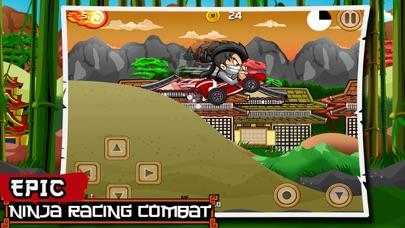 Ninja боевой Выполнить гоночный издание (Ninja Combat Dash Racing Edition) - Бесплатный самурай воин дорога ралли велосипед, автомобиль и скейтборд гонкиСкриншоты 3