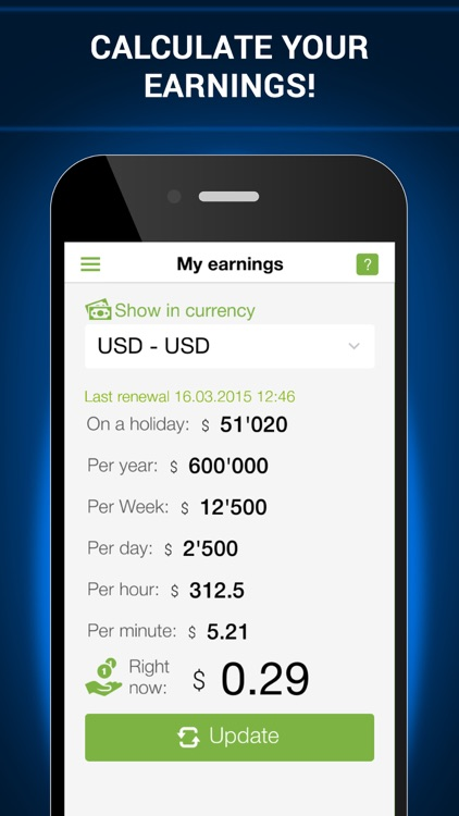 Time Money Converter Gold