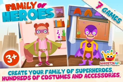 Family of Heroes for Kids screenshot 1