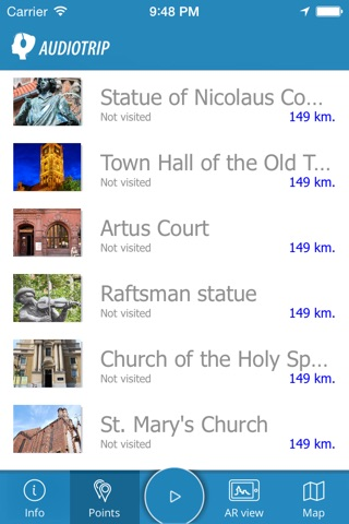AudioTrip - the story cityguide made by community for tourists planning to visit London, Paris, Italy, France, Poland and whole Europe. The top local attractions in audio guide with gps, maps, qr codes and augmented reality. screenshot 4